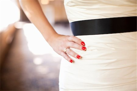ring hand woman - Close-Up of Bride with Hand on Hip Stock Photo - Rights-Managed, Code: 700-05973633