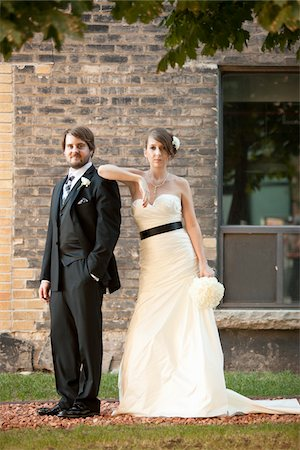 Portrait of Bride and Groom Stock Photo - Rights-Managed, Code: 700-05973645