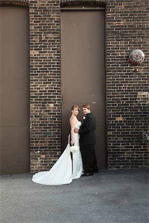 Portrait of Bride and Groom Stock Photo - Rights-Managed, Code: 700-05973643