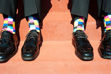 Checked Socks and Dress Shoes Stock Photo - Rights-Managed, Code: 700-05973655