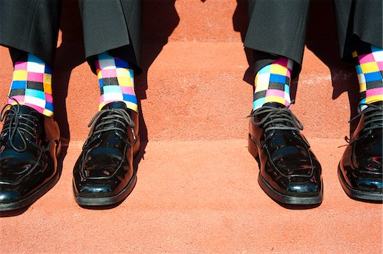 Checked Socks and Dress Shoes Stock Photo - Premium Rights-Managed, Artist: Ikonica, Image code: 700-05973655