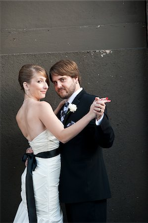 Portrait of Bride and Groom Stock Photo - Rights-Managed, Code: 700-05973657