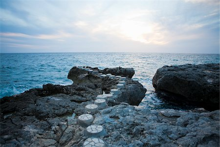 rock - Stepping Stones Leading to Ocean Stock Photo - Rights-Managed, Code: 700-05973660