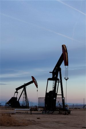 Oil Pump Jacks Stock Photo - Rights-Managed, Code: 700-05973955