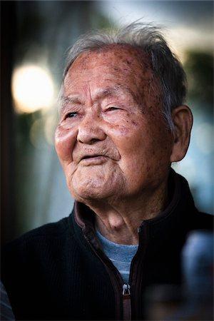 Close-Up of Elderly Man, Isen, Tokunoshima Island, Kagoshima Prefecture, Japan Stock Photo - Rights-Managed, Code: 700-05973993