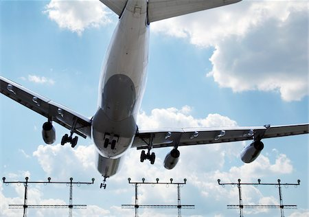 Airplane Landing at Airport Stock Photo - Rights-Managed, Code: 700-06009103