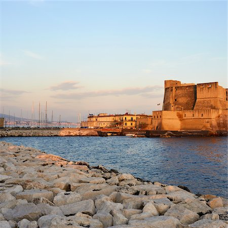 Castel dell'Ovo, Naples, Campania, Italy Stock Photo - Rights-Managed, Code: 700-06009141
