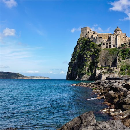 Aragonese Castle, Ischia, Campania, Italy Stock Photo - Rights-Managed, Code: 700-06009155