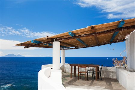 House Patio, Ginostra, Stromboli Island, Aeolian Islands, Province of Messina, Sicily, Italy Stock Photo - Rights-Managed, Code: 700-06009160