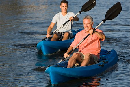 Father and Son Kayaking Stock Photo - Rights-Managed, Code: 700-06009201