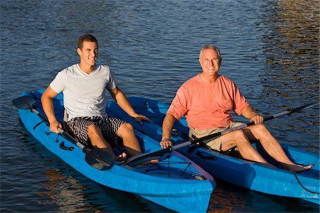 Father and Son in Kayaks Stock Photo - Rights-Managed, Code: 700-06009202