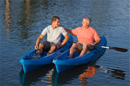 Father and Son in Kayaks Stock Photo - Rights-Managed, Code: 700-06009203