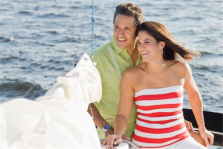 Couple on Sailboat Stock Photo - Rights-Managed, Code: 700-06009213
