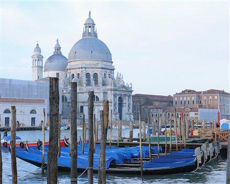 Santa Maria della Salute Church and Grand Canal, Venice, Veneto, Italy Stock Photo - Rights-Managed, Code: 700-06009350