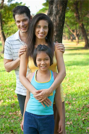 southeast asian ethnicity - Portrait of Family in Park Stock Photo - Rights-Managed, Code: 700-06009370