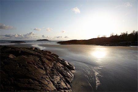Sun over Beach, Tofino, British Columbia, Canada Stock Photo - Rights-Managed, Code: 700-06025275