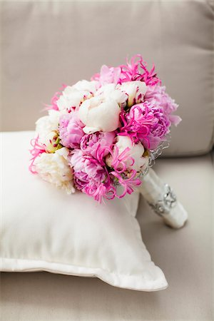 Bride's Bouquet on Pillow Stock Photo - Rights-Managed, Code: 700-06037886
