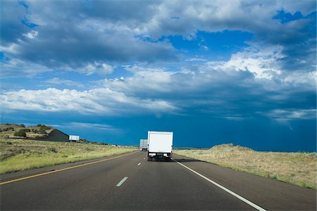 rear - Delivery Truck on Road Stock Photo - Rights-Managed, Code: 700-06037904