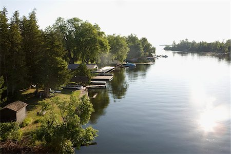 View of Trent-Severn Waterway, Bobcaygeon, Ontario, Canada Stock Photo - Rights-Managed, Code: 700-06037908