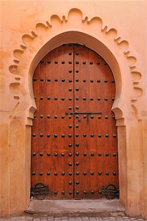 Typical Doorway, Marrakech, Morocco Stock Photo - Rights-Managed, Code: 700-06038002