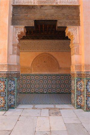 Doorway, Ben Youssef Madrasa, Marrakech, Morocco Stock Photo - Rights-Managed, Code: 700-06038028