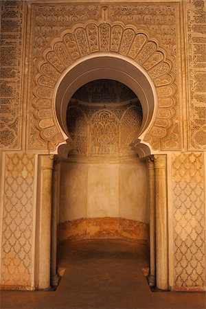 design (motif, artistic composition or finished product) - Ben Youssef Madrasa, Marrakech, Morocco Stock Photo - Rights-Managed, Code: 700-06038031