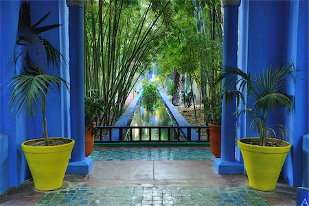 Jardin Majorelle, Marrakech, Morocco Stock Photo - Rights-Managed, Code: 700-06038047