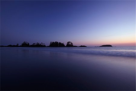 Chesterman Beach at Dusk, Tofino, Vancouver Island, British Columbia, Canada Stock Photo - Rights-Managed, Code: 700-06038133