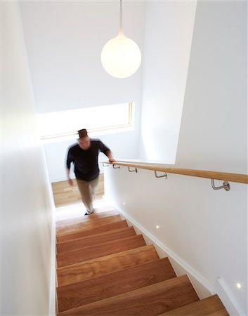 Man Walking Up Stairs Stock Photo - Rights-Managed, Code: 700-06038237