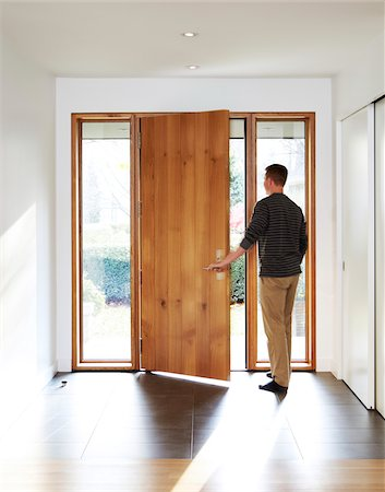 residential - Man Opening Door Stock Photo - Rights-Managed, Code: 700-06038231