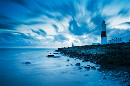 Portland Bill Lighthouse, Rocky Coast and Clouds, Isle of Portland, Dorset, England Stock Photo - Rights-Managed, Code: 700-06059812