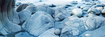 smooth - Boulders on Beach with Incoming Tide Stock Photo - Rights-Managed, Code: 700-06059813