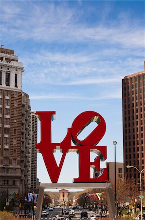 Love Sculpture in Love Park, Philadelphia, Pennsylvania, USA Stock Photo - Rights-Managed, Code: 700-06109807