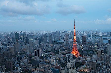 Tokyo Tower, Shiba Park, Tokyo, Kanto Region, Honshu, Japan Stock Photo - Rights-Managed, Code: 700-06119545