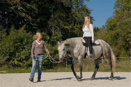 Woman Learning to Ride Horse Stock Photo - Rights-Managed, Code: 700-06119569