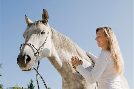 Woman Brushing Horse Stock Photo - Rights-Managed, Code: 700-06119563