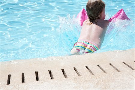 Little Girl in Swimming Pool Stock Photo - Rights-Managed, Code: 700-06119646