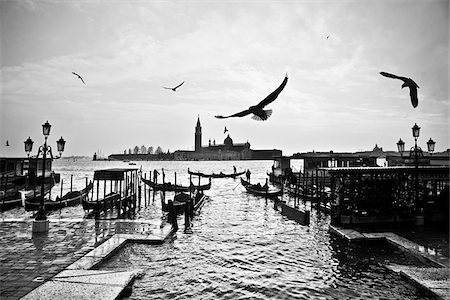 Birds, Gondolas and San Giorgio Maggiore, Venice, Italy Stock Photo - Rights-Managed, Code: 700-06119746