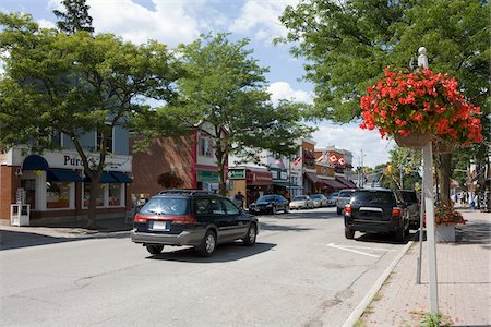Street Scene, Bobcaygeon, Ontario, Canada Stock Photo - Rights-Managed, Code: 700-06125701
