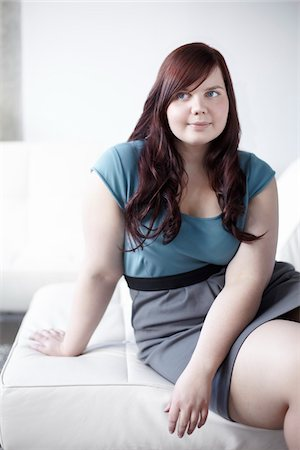 fat lady sitting - Portrait of Woman Sitting Stock Photo - Rights-Managed, Code: 700-06144793