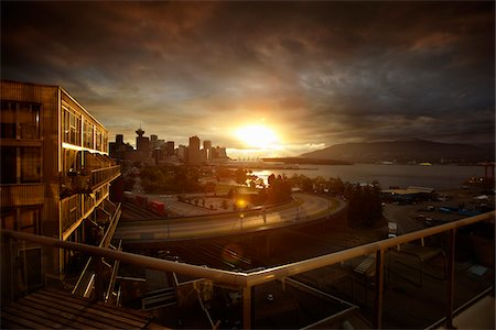 exterior bar - City Skyline at Sunset, Vancouver, British Columbia, Canada Stock Photo - Rights-Managed, Code: 700-06144880