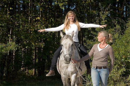 Women Riding Horse Stock Photo - Rights-Managed, Code: 700-06168504
