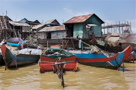southeast asian - Floating Village and Fishing Boats Stock Photo - Rights-Managed, Code: 700-06199251