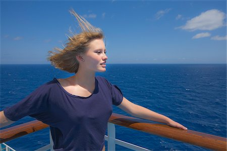 Teenage Girl on Cruise Ship Stock Photo - Rights-Managed, Code: 700-06190534