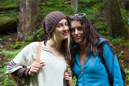 Portrait of Two Teenage Girls in Forest Stock Photo - Rights-Managed, Code: 700-06190618