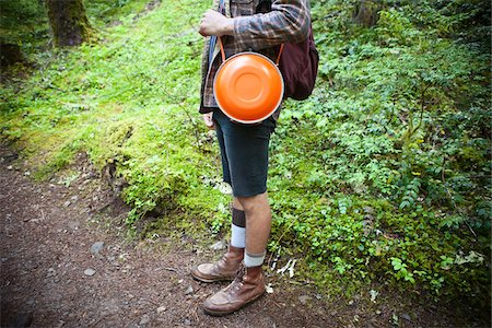 Male Hiker with Orange Canteen Stock Photo - Rights-Managed, Code: 700-06190648