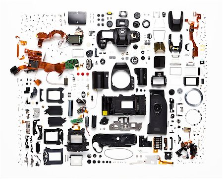 equipment - Disassembled Camera Stock Photo - Rights-Managed, Code: 700-06282069