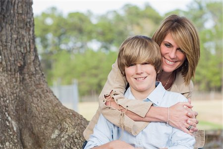 Portrait of Mother and Son Outdoors Stock Photo - Rights-Managed, Code: 700-06282094