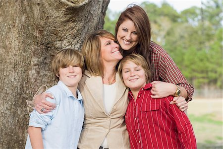 Portrait of Mother with Children Stock Photo - Rights-Managed, Code: 700-06282095