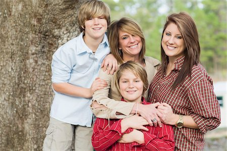 Portrait of Mother with Children Stock Photo - Rights-Managed, Code: 700-06282097
